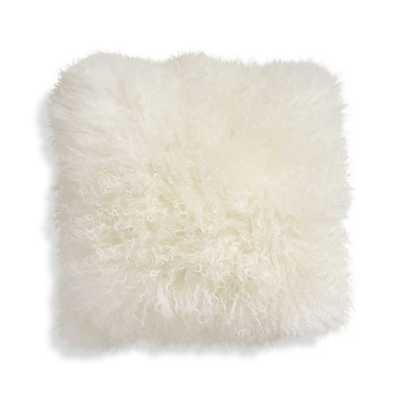 "Pelliccia 16"" Mongolian Lamb Fur Pillow - Crate and Barrel"