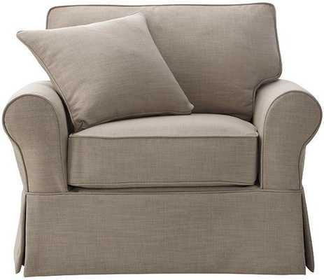 Mayfair Slipcovered Chair - Linen Pearl - Home Decorators