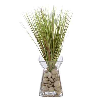 Floral Grass in Acrylic Glass Vase - Wayfair