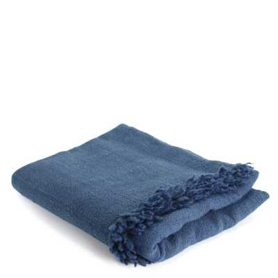 Light Indigo Throw Blanket - brookfarmgeneralstore.com