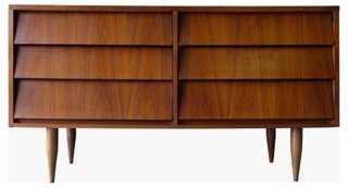 Mid-Century Modern Walnut Dresser - One Kings Lane