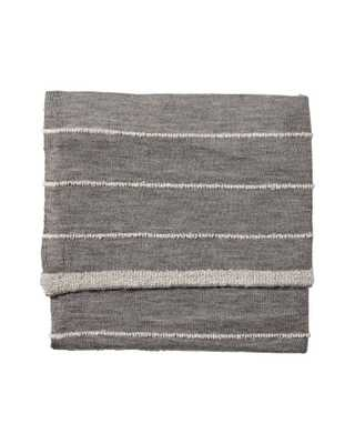 Grey Heathered Knit Throw - Domino