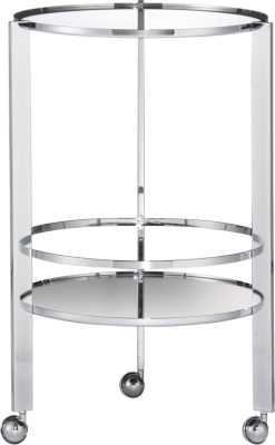 Ernest chrome bar cart - CB2