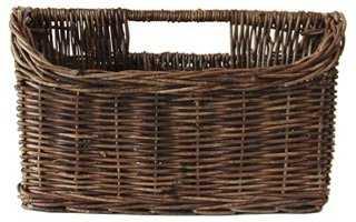 Vine Rope Magazine Compartment Basket - One Kings Lane