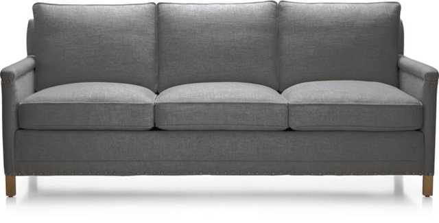 "Trevor 81"" Sofa - Gibson, Steel/Weathered Gray/Haven - Crate and Barrel"