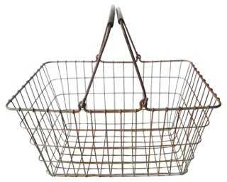 French Double-Handled Market Basket - One Kings Lane