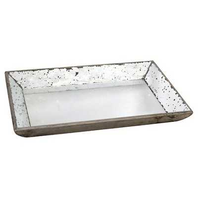 "Vintage Finish Mirrored Glass Tray - 13x19.5"" - Target"