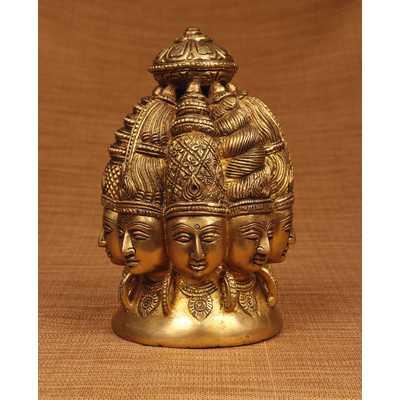Brass Series Shiva 8 Faces Figurine - Wayfair