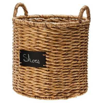 "Smith & Hawkenâ""¢ Round Decorative Basket with Chalkboard - Target"