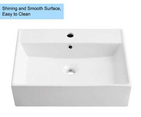 White Rectangle Ceramic Above Counter Basin Vessel Vanity Skink Art Basin Bathroom Sink - Amazon
