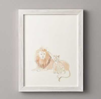 Watercolor animal illustrations - Lion - RH Baby & Child