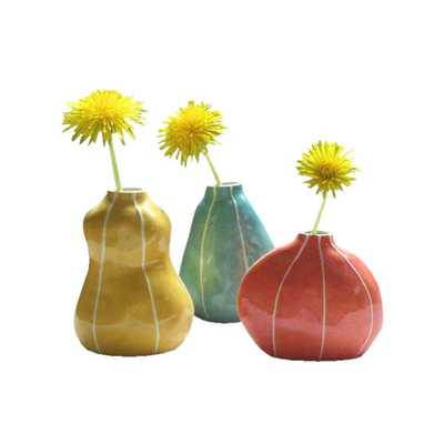 Bud Bright Colors Vase Set of 3 - Domino
