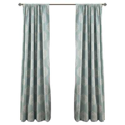 Sophie Blackout Curtain Panel/Set of 2 - Blue - Wayfair