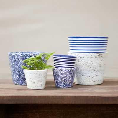 Patterned Pot Trio, Blue - Small - shopterrain.com