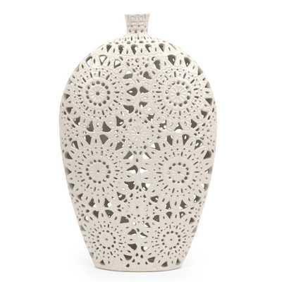 Lacey Floral Pierced Vase - Wayfair