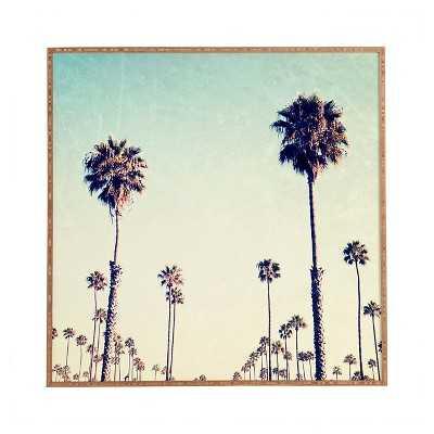 "Deny Designs 20"" Bree Madden California Palm Trees Framed (Natural) Wall Art - No mat - Target"