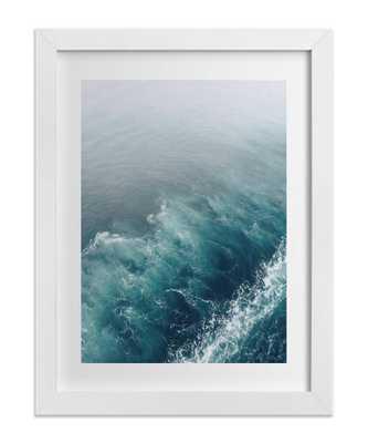 "Marbled Wake - 16"" x 20"" - Framed - Domino"