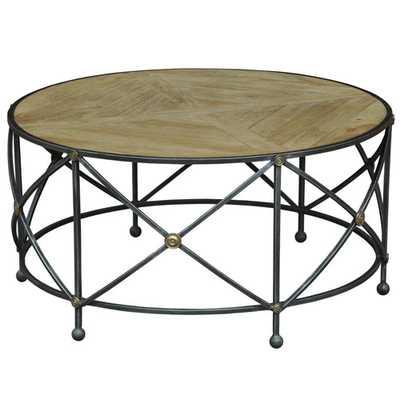 Sarreid Driftwood Drum and Fife Coffee Table - Bellacor