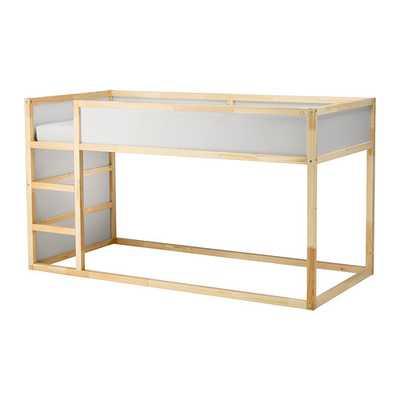 KURA Reversible bed, white, pine - Ikea