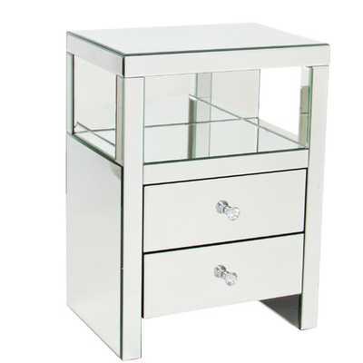 Wayborn Beveled Mirror End Table - Wayfair