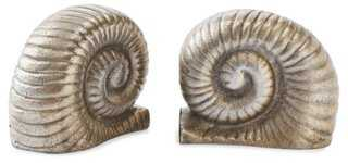 Pair of Snail Bookends - One Kings Lane