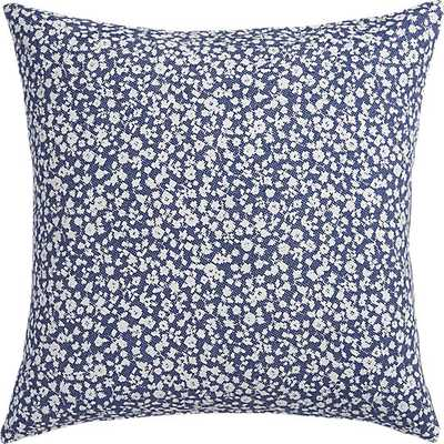 "The Hill-Side halftone floral print 20"" pillow with feather insert - CB2"