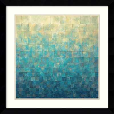 'Cascade' by Janelle Kroner Framed Painting Print - Framed - AllModern