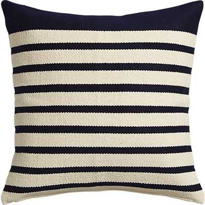 """Division navy 20"""" pillow with feather insert - CB2"""
