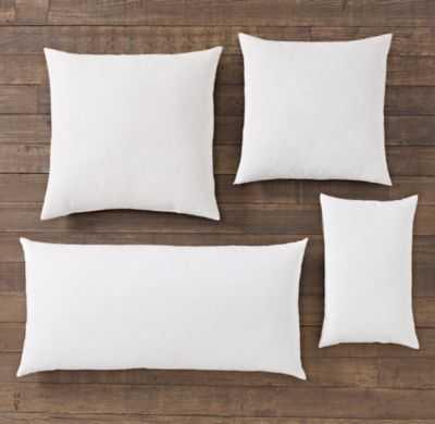 """Premium Down Pillow Inserts-White-20""""x20"""" - RH"""
