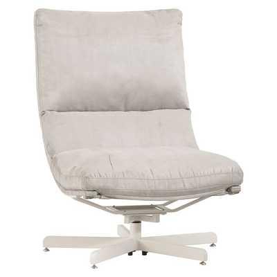 Suede Maverick Swivel Lounge Chair - Pottery Barn Teen