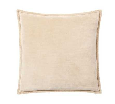 WASHED VELVET PILLOW COVER - Lambswool, 2020, No Insert - Pottery Barn