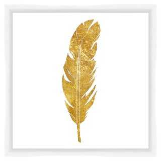 "Golden Feather-14"" x 14""-framed - One Kings Lane"