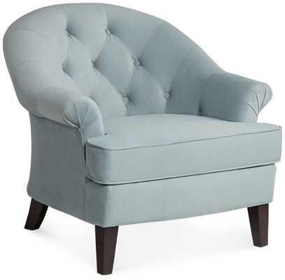 Kash Beau Blue Armchair - Lamps Plus