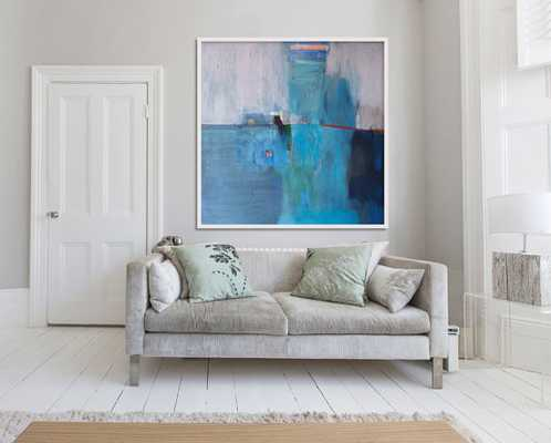 """large ABSTRACT print of painting, blue painting print, giclee print, """"Blue Landscape"""" - Etsy"""