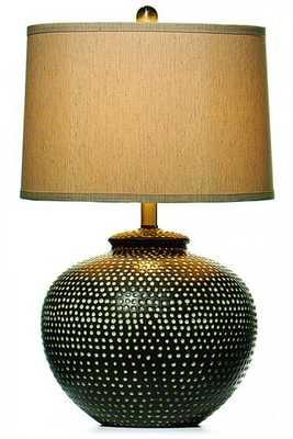 Hammered Ceramic Pot Table Lamp - Home Decorators