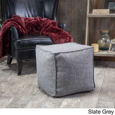 Christopher Knight Home Alder Fabric Cube Ottoman - Overstock