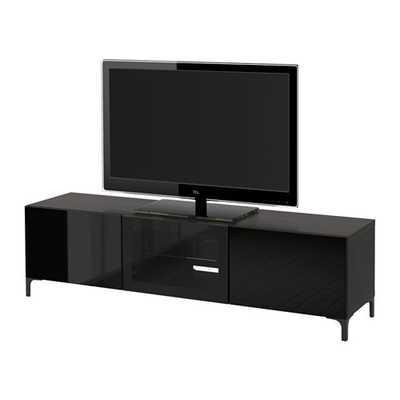 BESTÃ… TV unit with drawers and door - Ikea