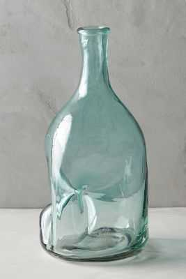 Pinched Glass Vase - Large - Anthropologie