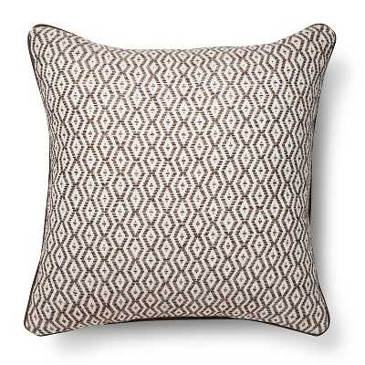 "Thresholdâ""¢ Diamond Stripe Throw Pillow-Brown, 18''Sq. Insert included - Target"