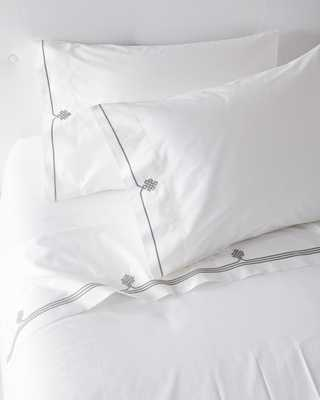 Gobi Embroidered Sheet Set - Serena and Lily