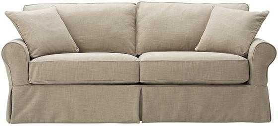 Mayfair Slipcovered Long Sofa - Pearl Linen - Home Decorators