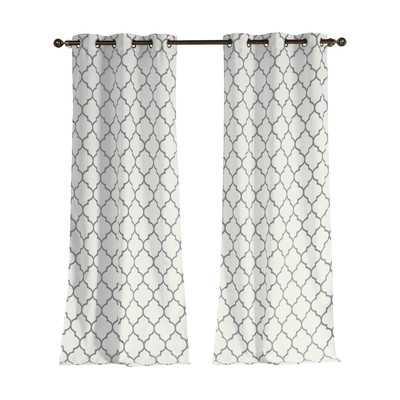 Cervantes Curtain Panel Pair - Gray - Wayfair