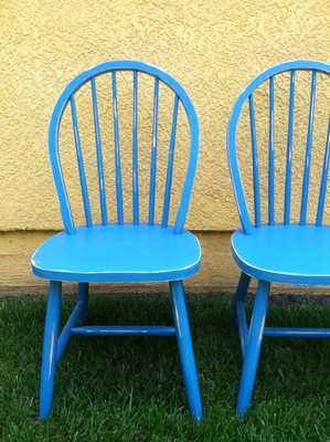 Turquoise chairs - Etsy