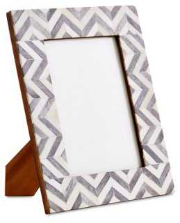 "Chevron Frame, Gray, 5"" x 7"" - One Kings Lane"