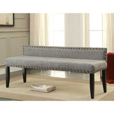 Furniture of America Simone Flax Upholstered 64-inch Backed Accent Bench - Overstock