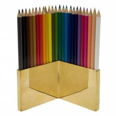 Brass Colored Pencil Set - Domino