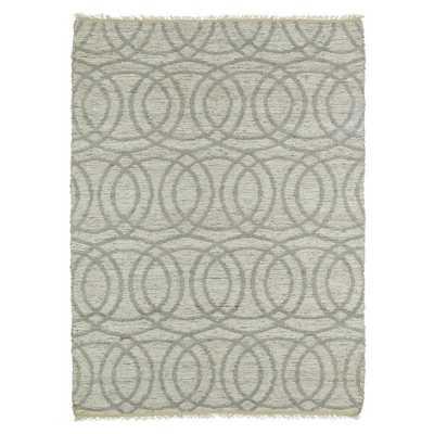 Handmade Natural Fiber Canyon Grey Circles Rug - Overstock