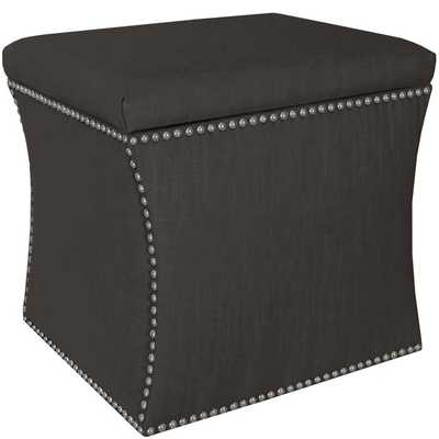 Skyline Furniture Nail Button Storage Ottoman - Overstock