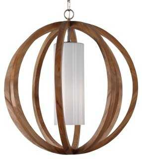 Allier 1-Light Pendant, Aged Oak - One Kings Lane