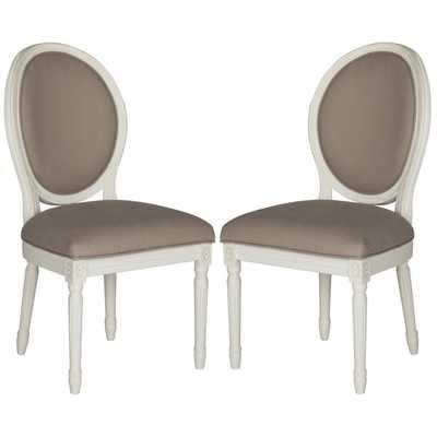 Safavieh Holloway Taupe Oval Side Chair (Set of 2) - Overstock